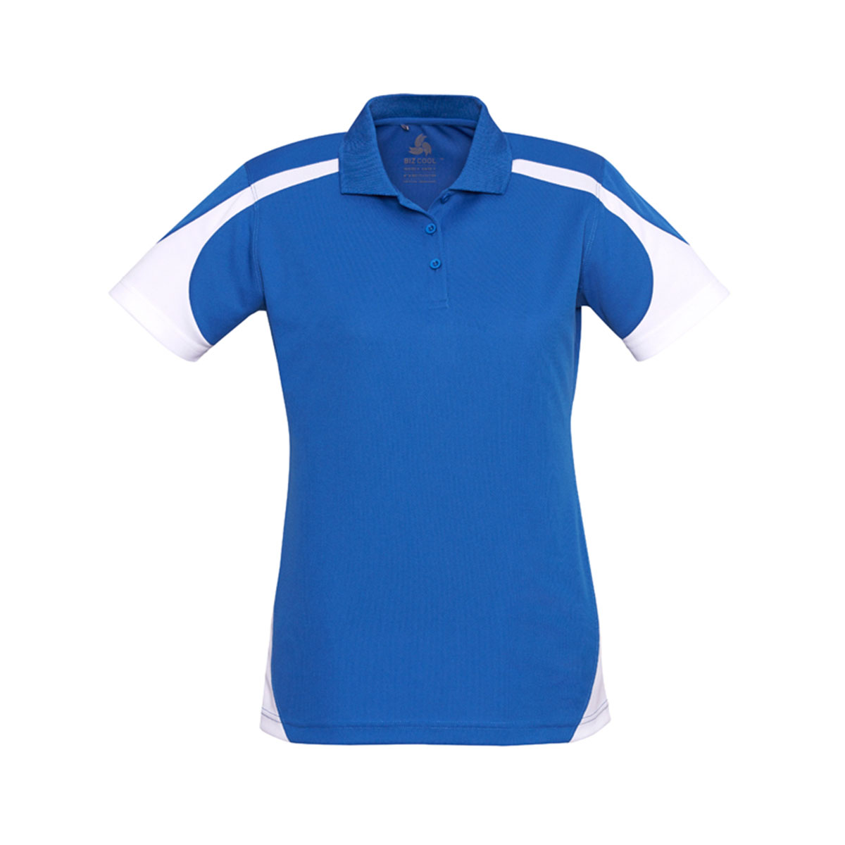 Ladies Talon Polo-Royal / White