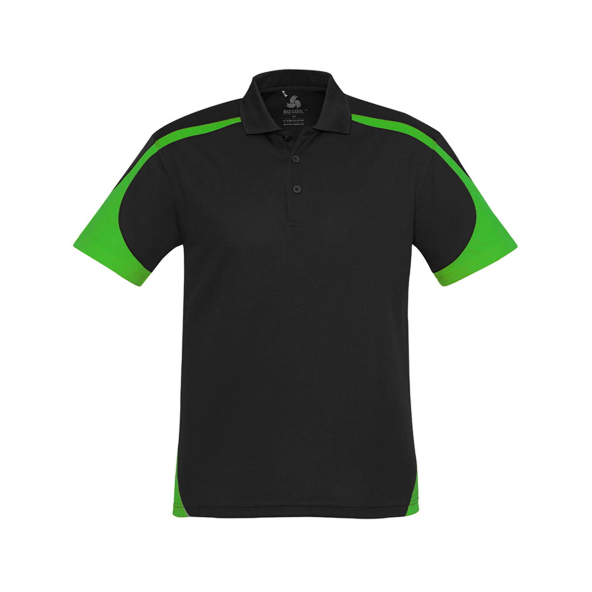 Mens Talon Polo-Black / Green