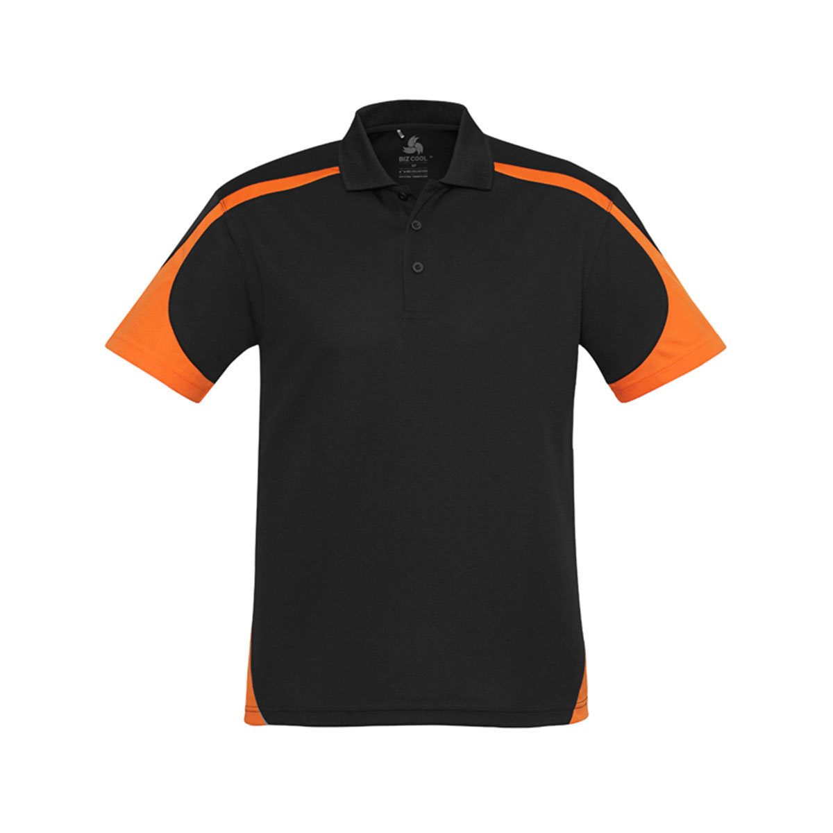 Mens Talon Polo-Black / Orange