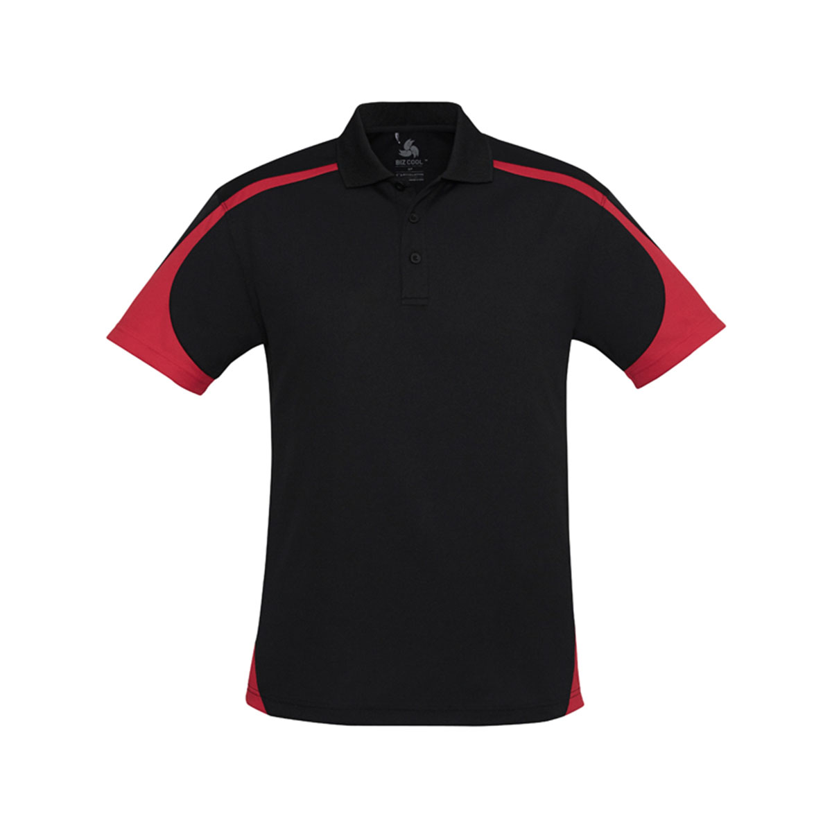 Mens Talon Polo-Black / Red