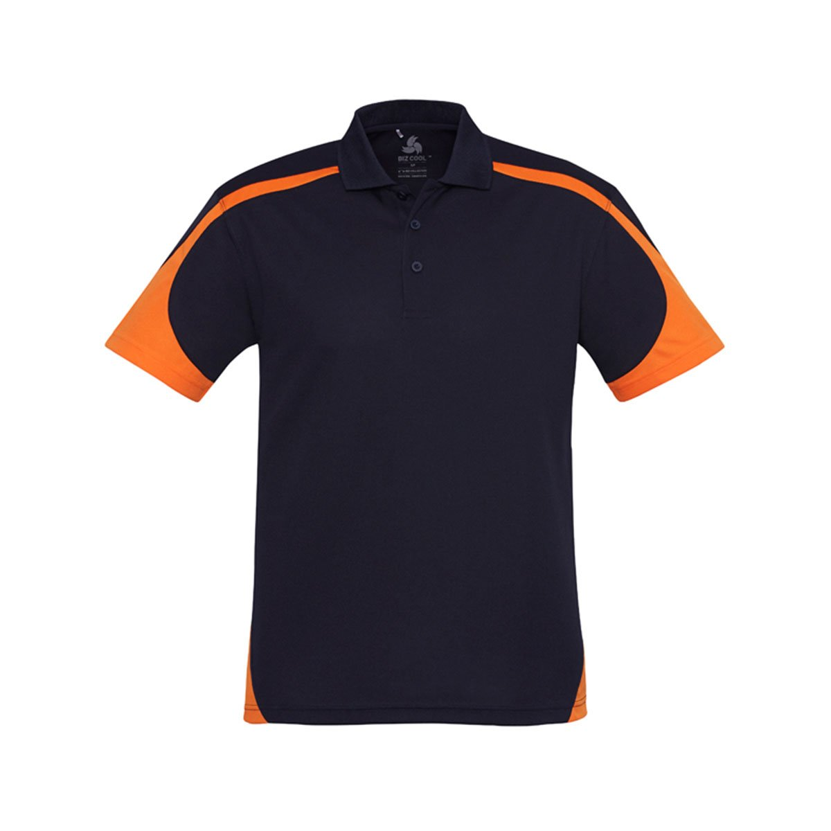 Mens Talon Polo-Navy / Orange