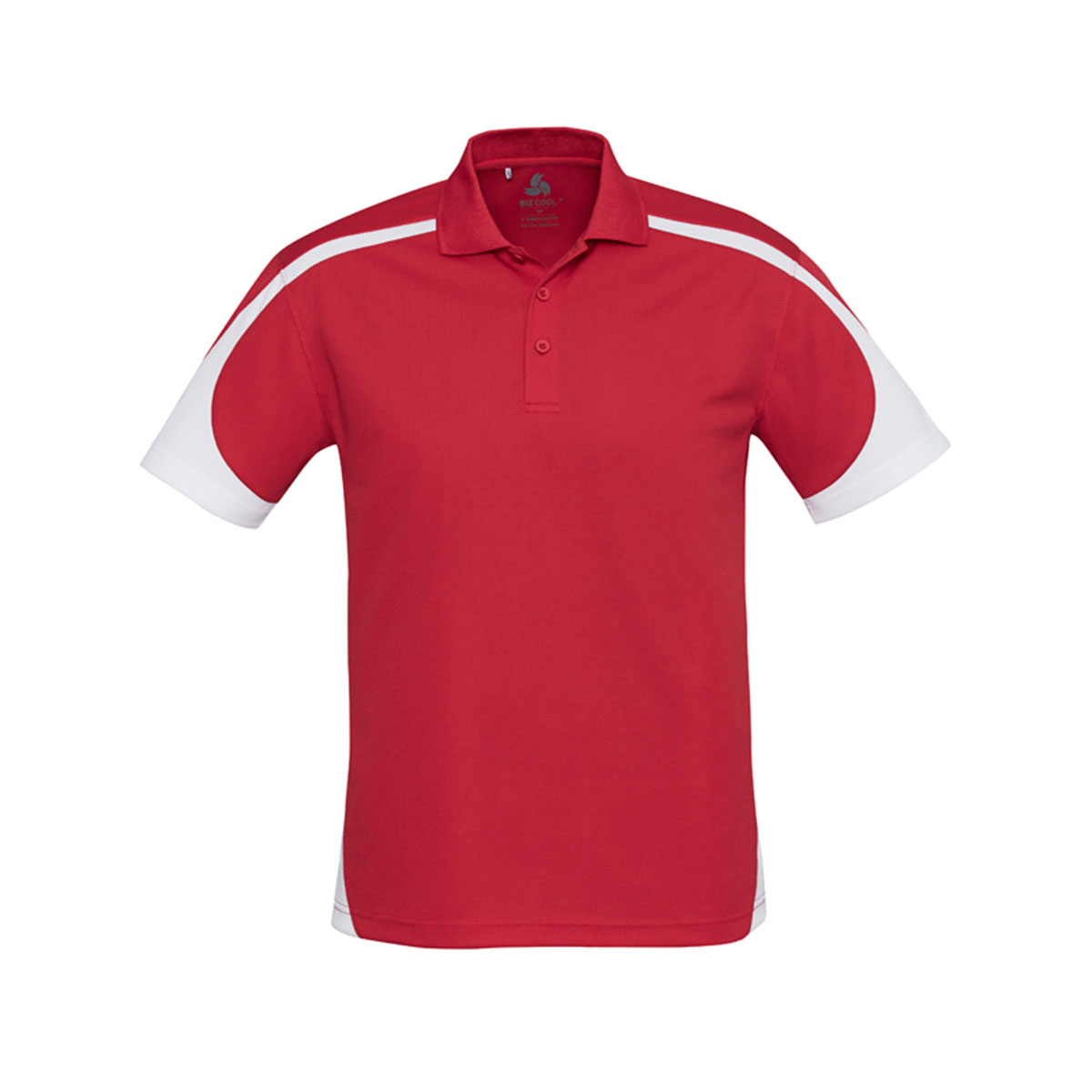 Mens Talon Polo-Red / White