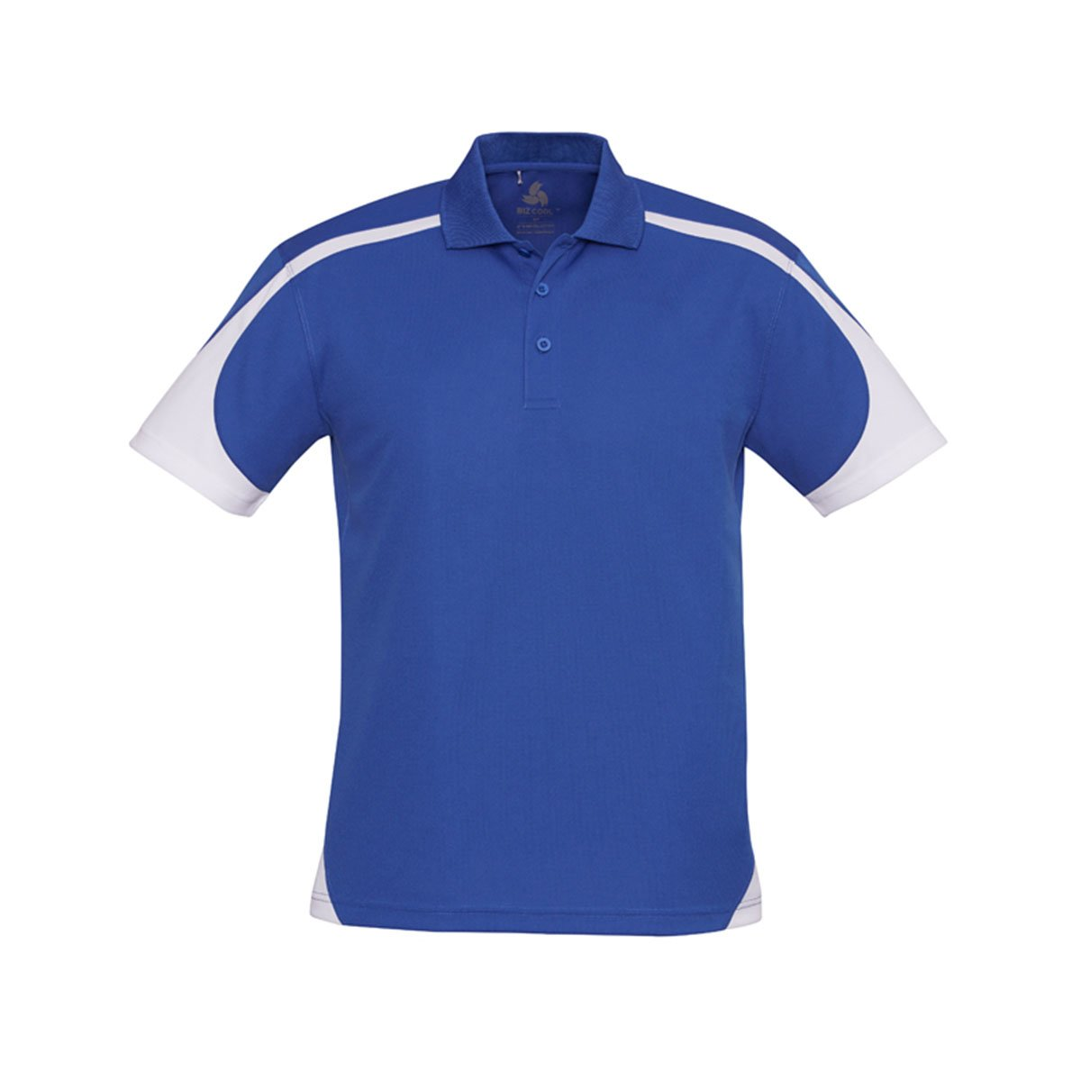 Mens Talon Polo-Royal / White