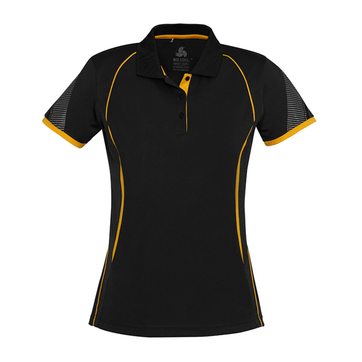 Ladies Razor Polo-Black / Gold