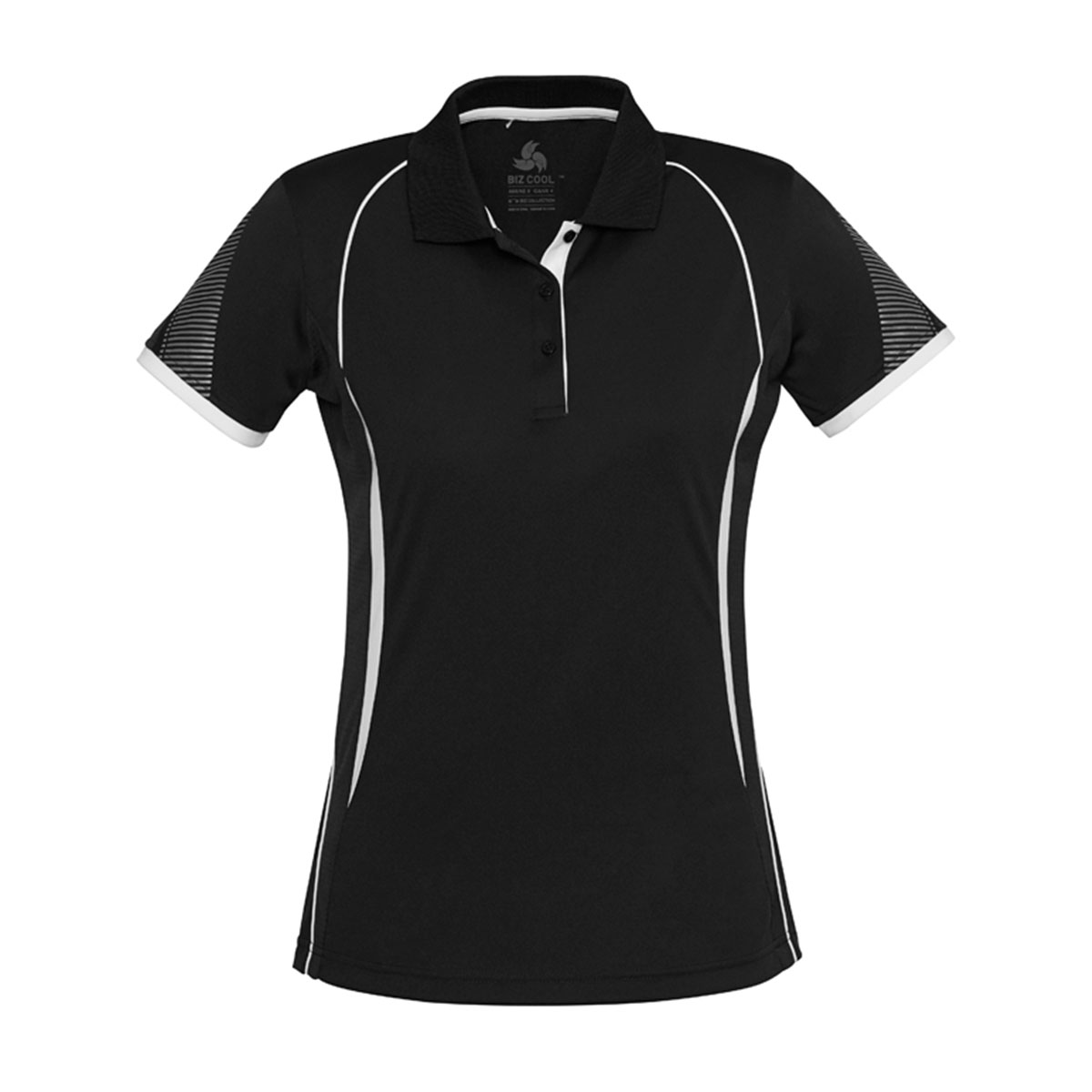 Ladies Razor Polo-Black / White