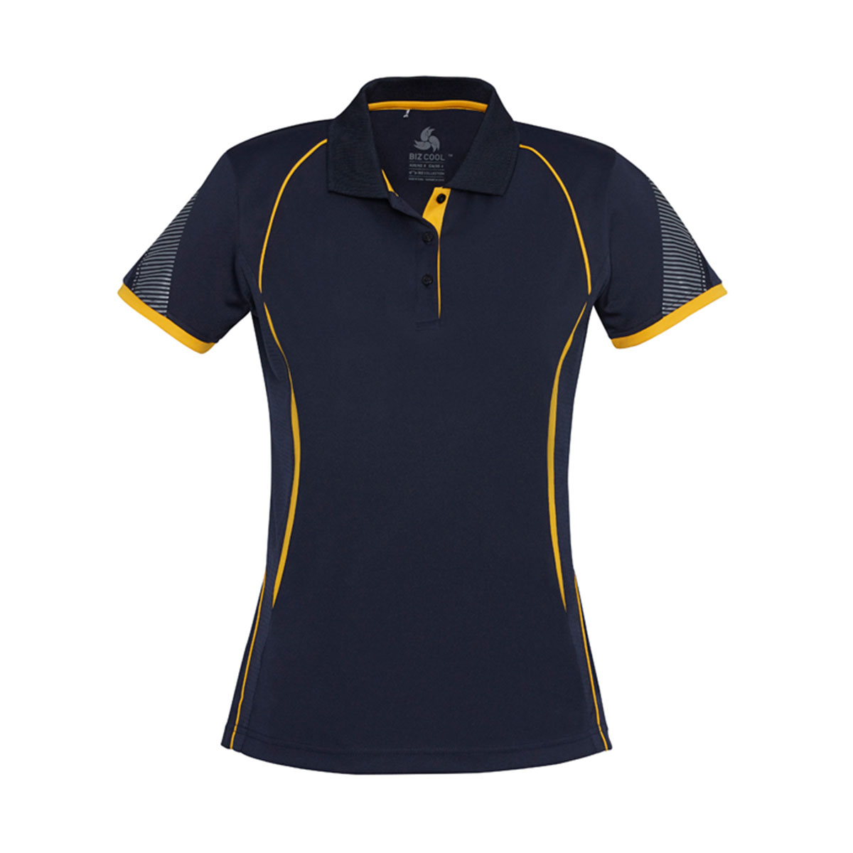Ladies Razor Polo-Navy / Gold