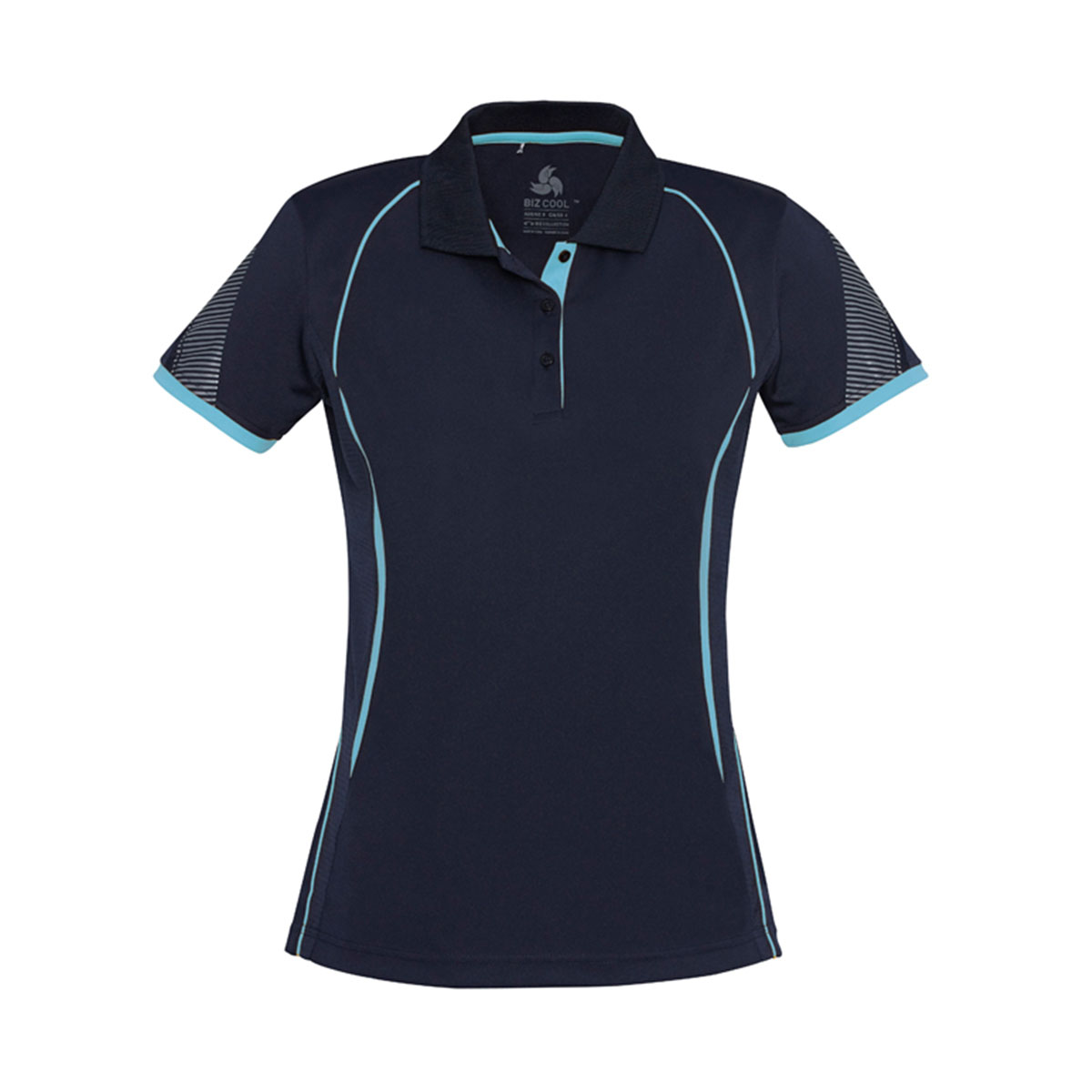 Ladies Razor Polo-Navy / Sky