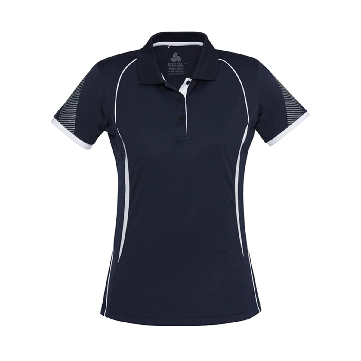 Ladies Razor Polo-Navy / White