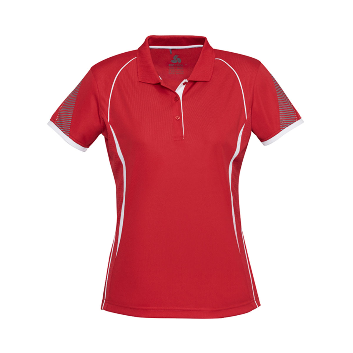 Ladies Razor Polo-Red / White