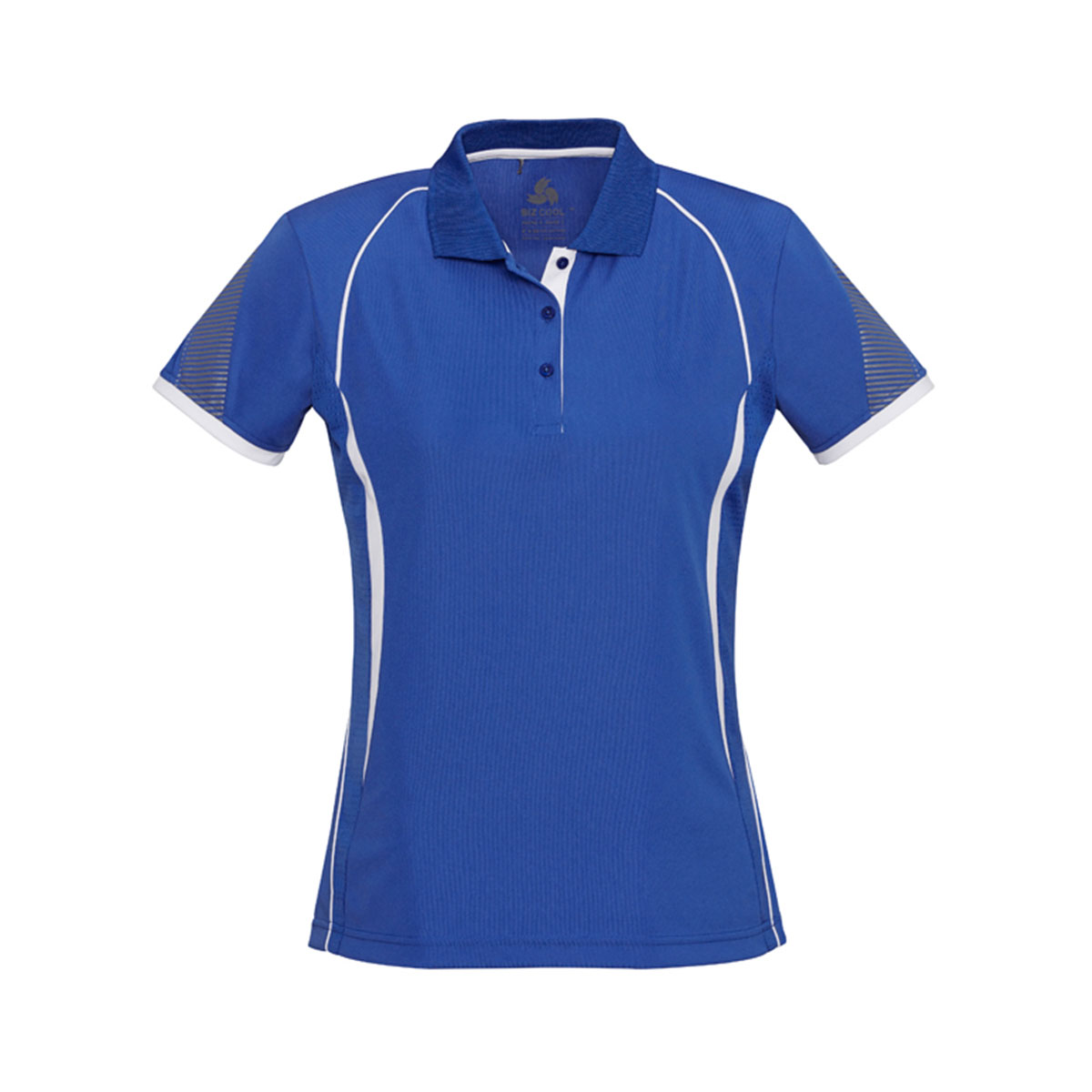 Ladies Razor Polo-Royal / White