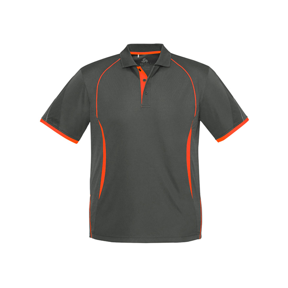 Mens Razor Polo-Grey / Fluoro Orange