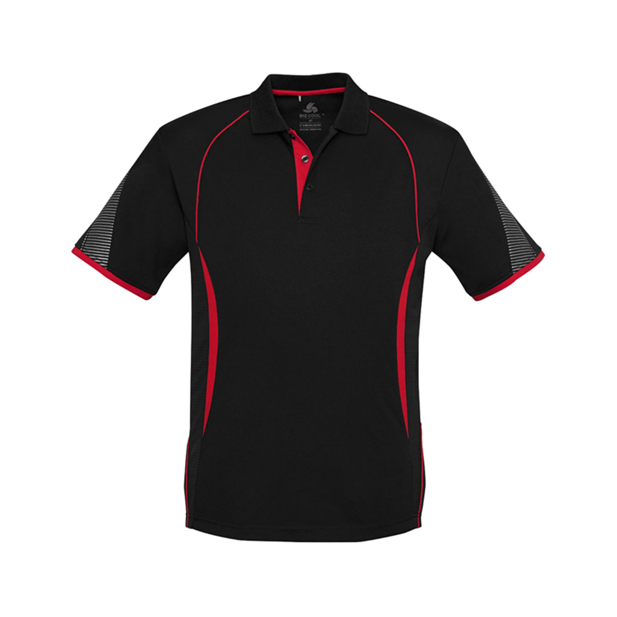 Mens Razor Polo-Black / Red