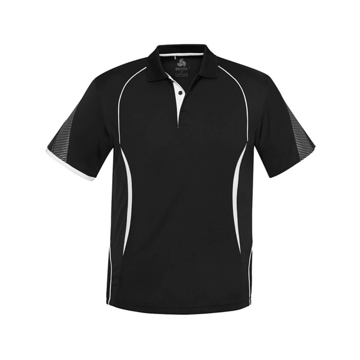 Kids Razor Polo-Black / White