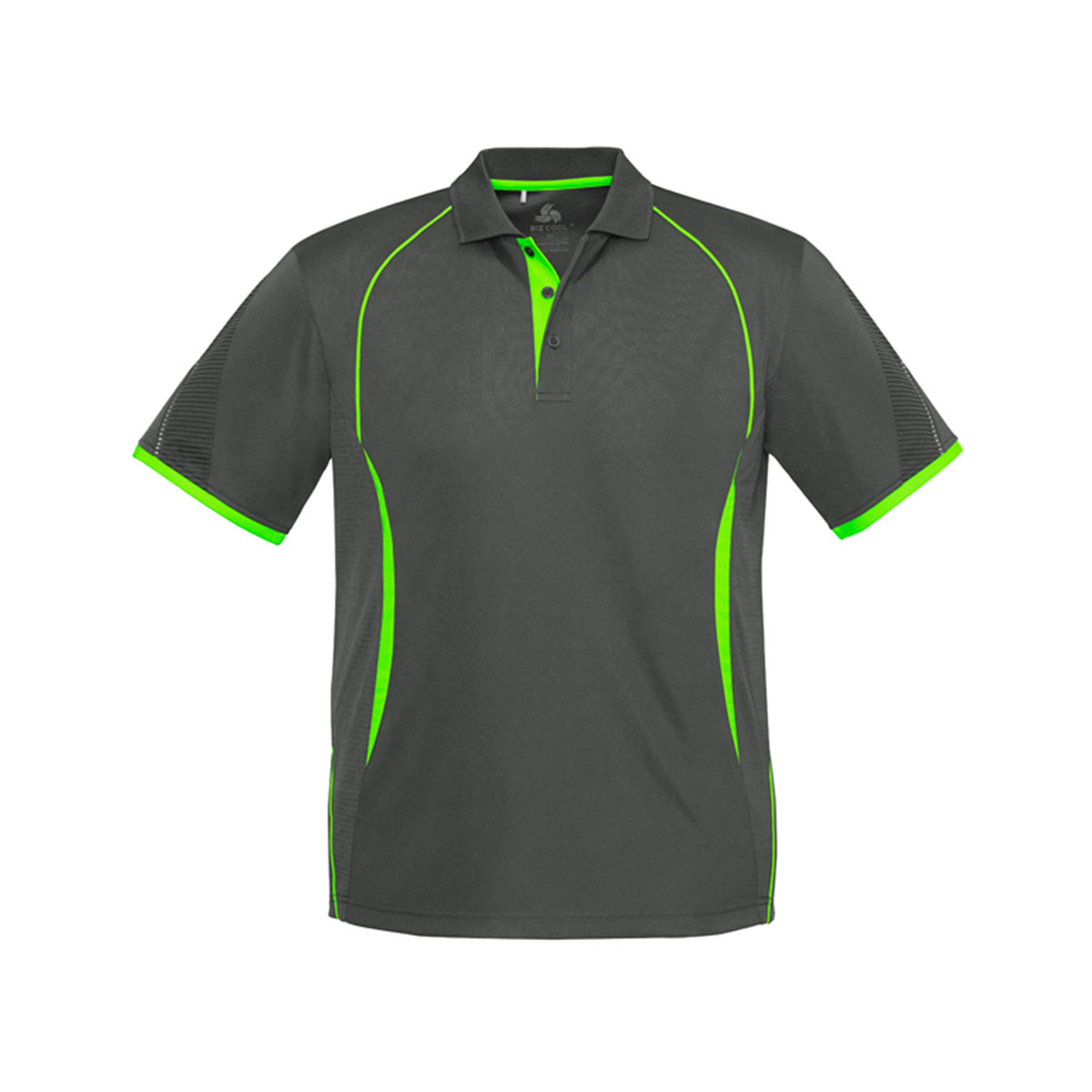 Mens Razor Polo-Grey / Fluoro Lime