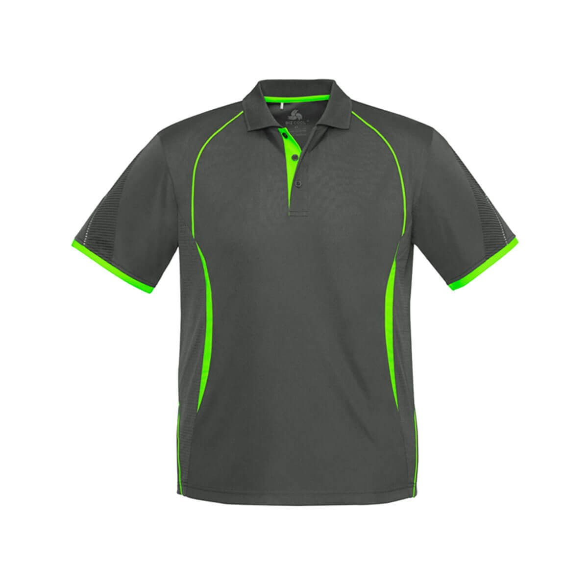 Kids Razor Polo-Grey / Fluoro Lime