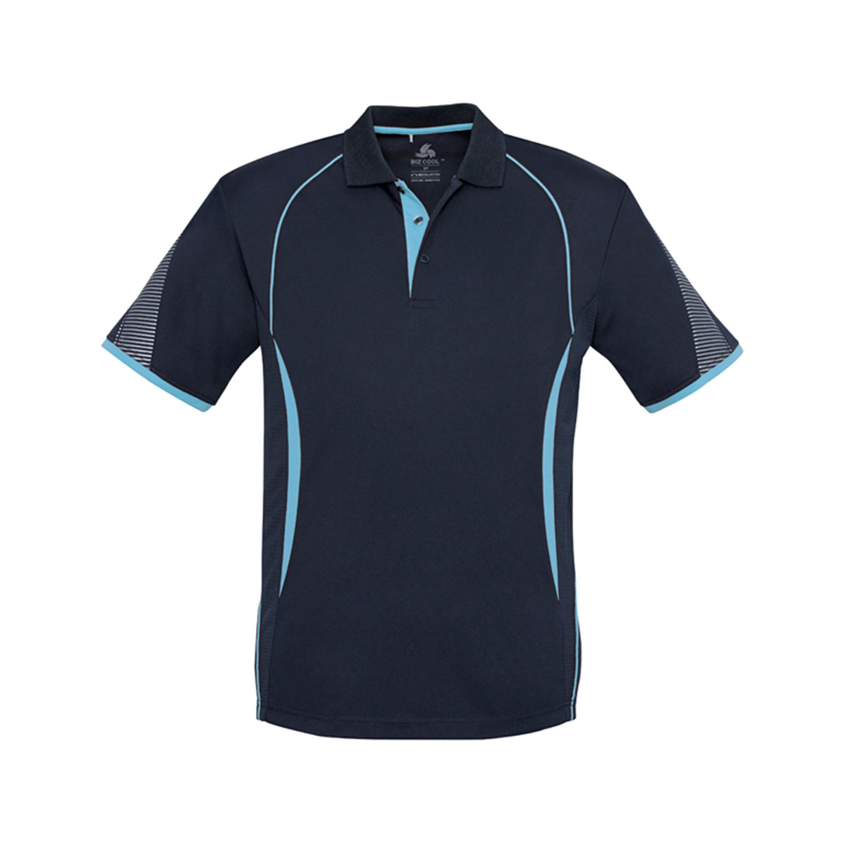 Mens Razor Polo-Navy / Sky
