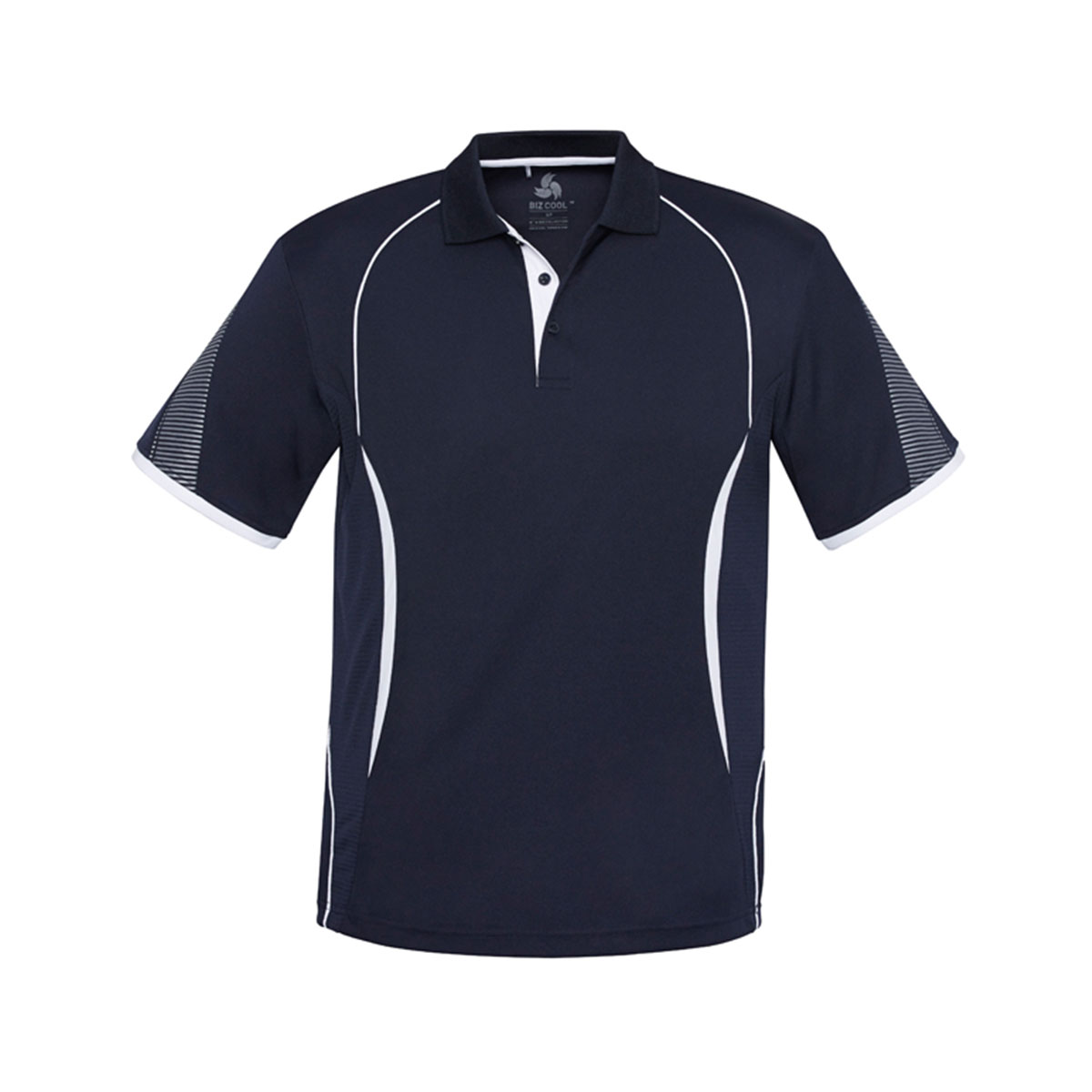 Mens Razor Polo-Navy / White
