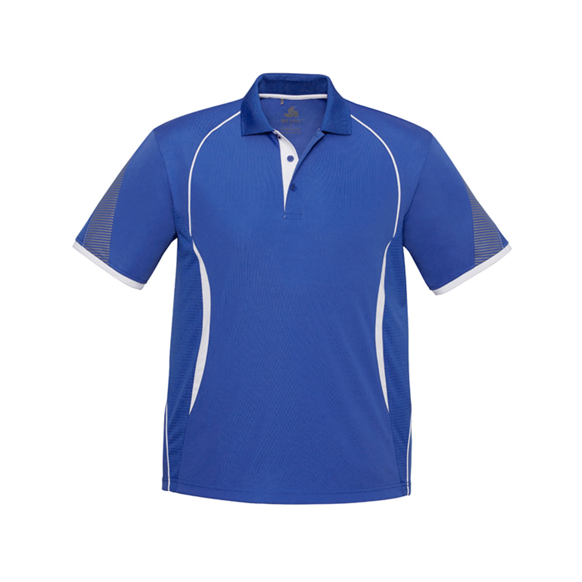 Mens Razor Polo-Royal / White
