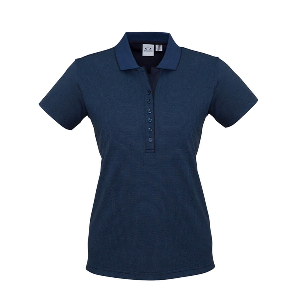 Ladies Shadow Polo-Carbon Blue