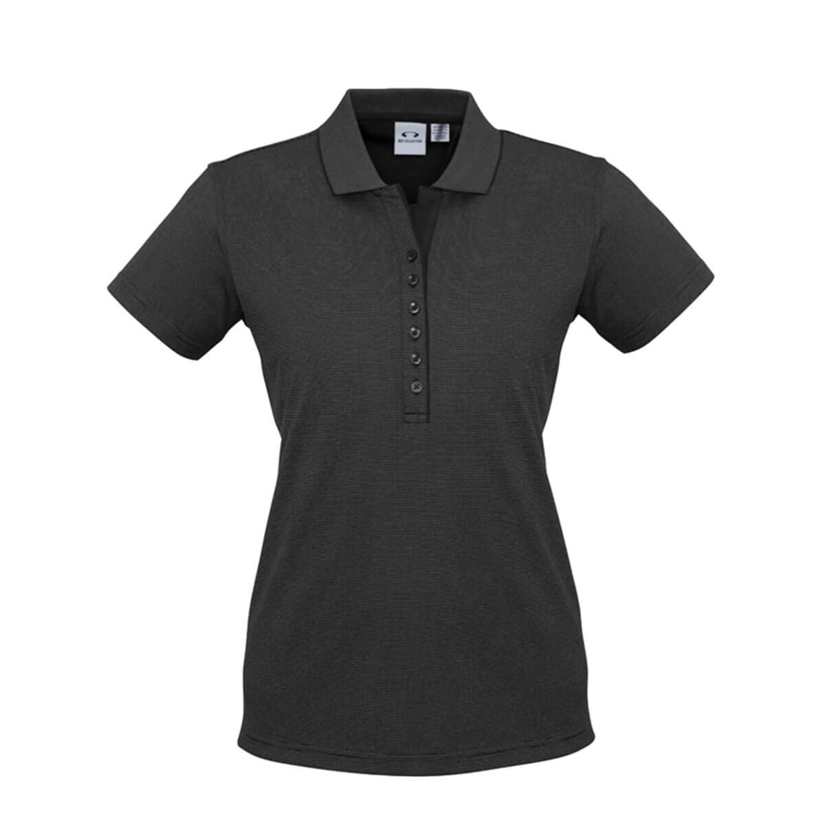 Ladies Shadow Polo-Graphite Black