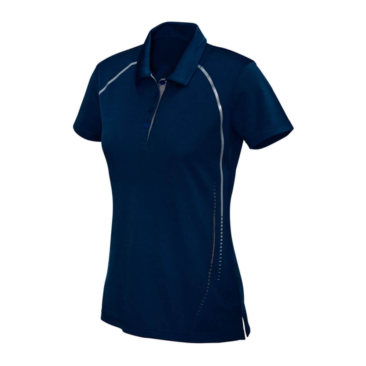 Ladies Cyber Polo-Navy / Silver