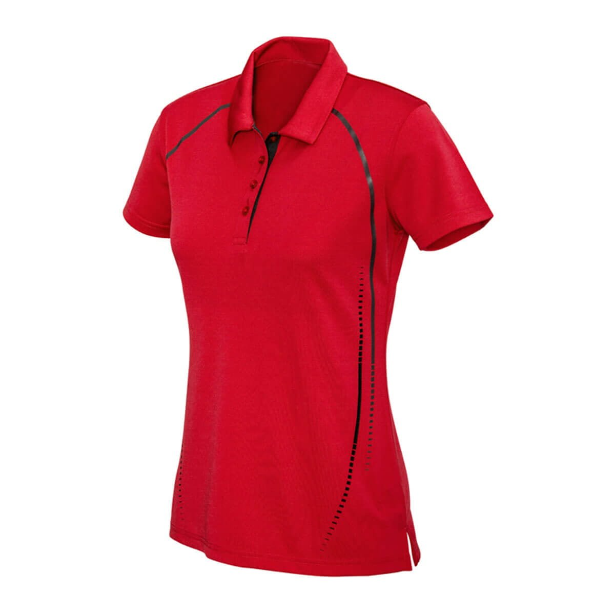 Ladies Cyber Polo-Red / Silver