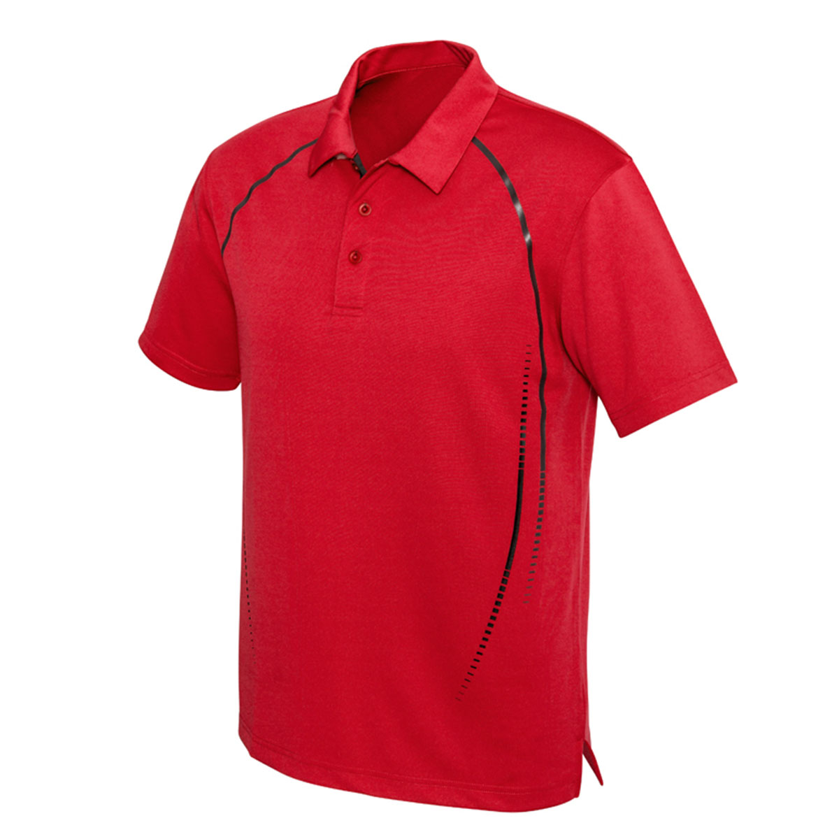 Mens Cyber Polo-Red / Silver