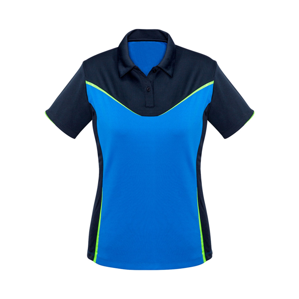Ladies Victory Polo-Navy / Royal / Fluoro Lime