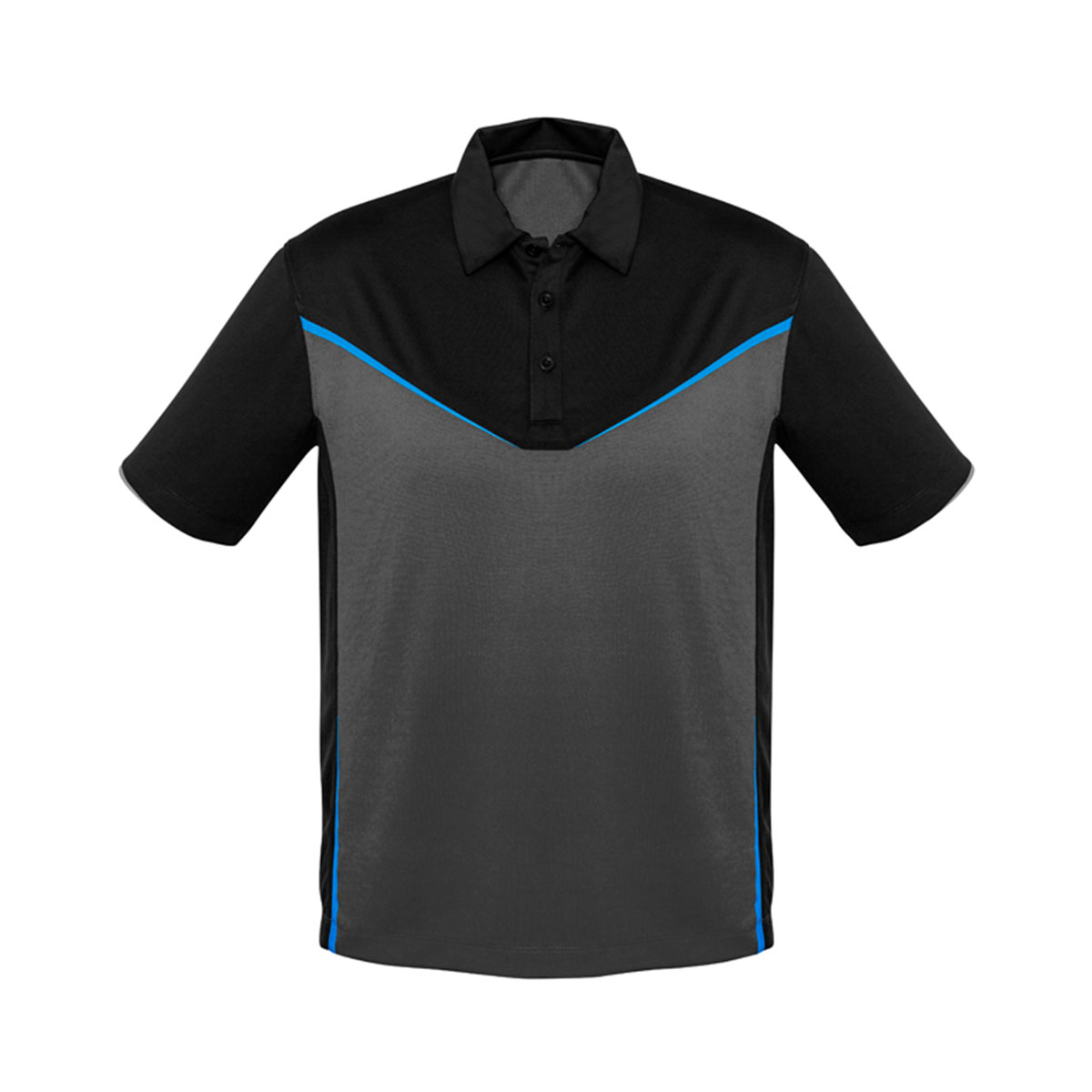 Mens Victory Polo-Black / Ash / Cyan