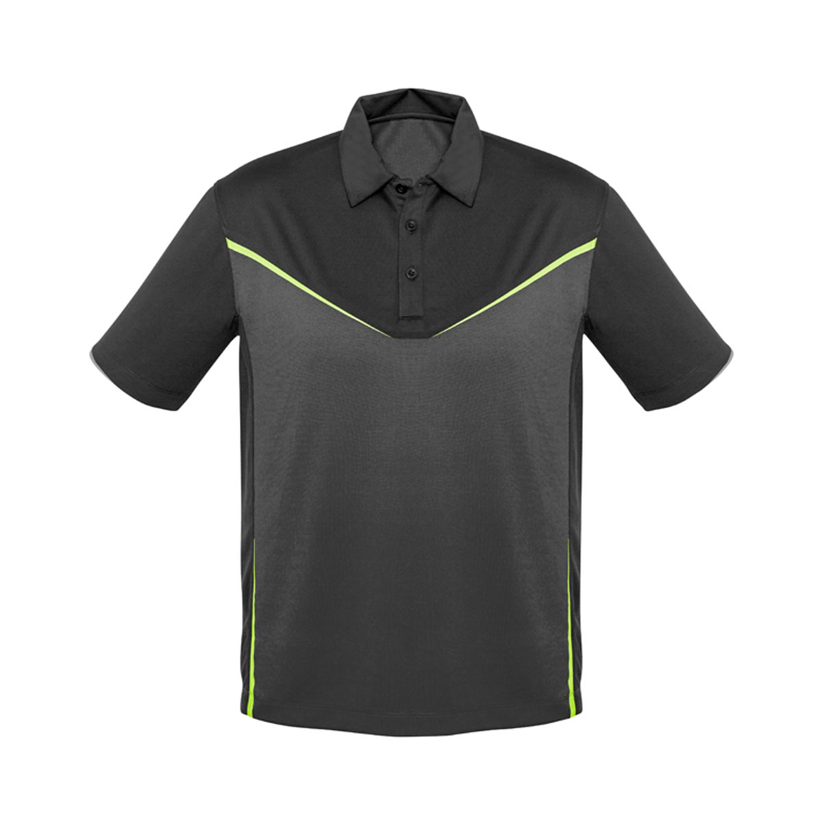 Mens Victory Polo-Grey / Ash / Fluoro Yellow