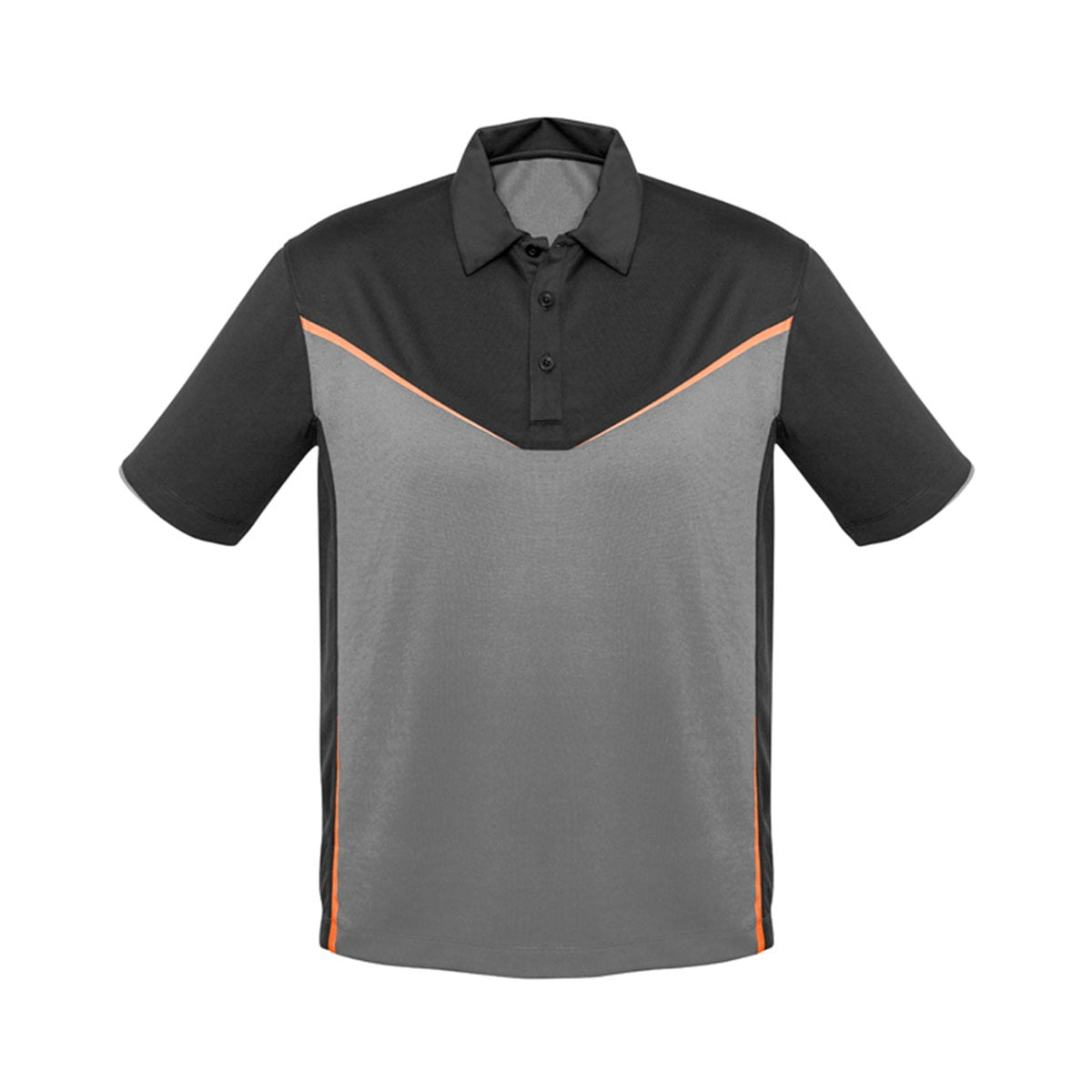 Mens Victory Polo-Grey / Silver / Fluoro Orange