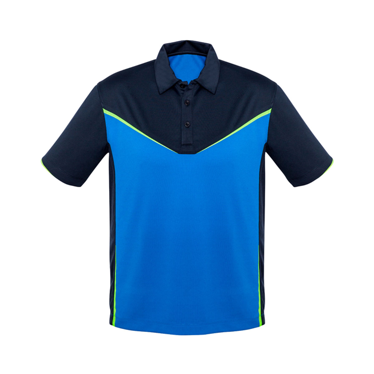 Mens Victory Polo-Navy / Royal / Fluoro Lime