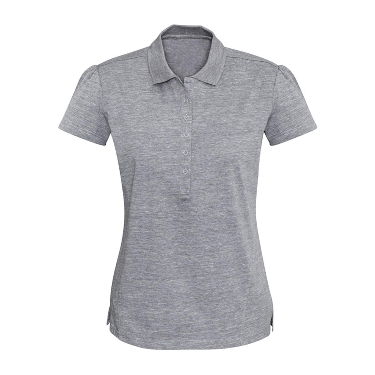 Ladies Coast Polo-Silver Grey