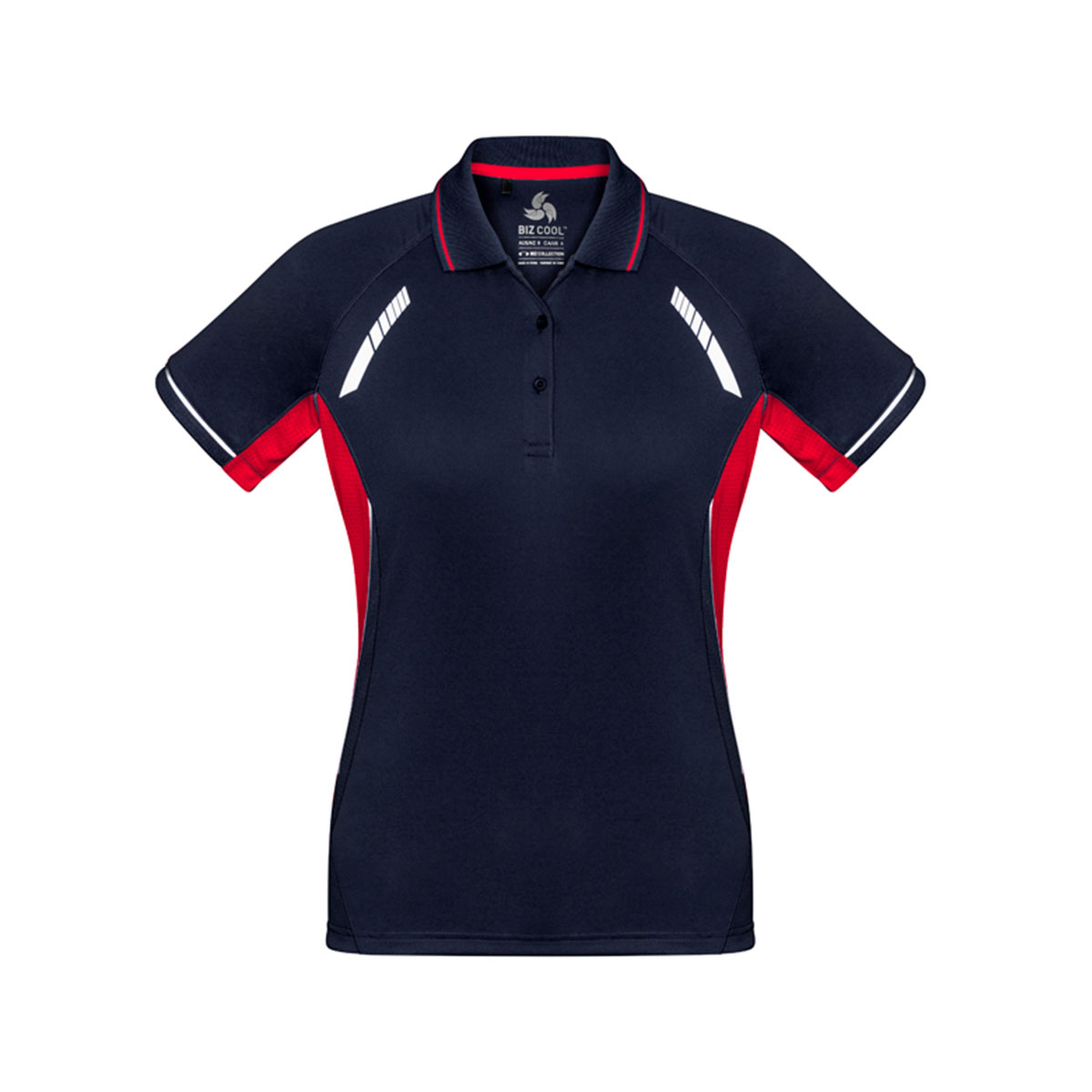 Ladies Renegade Polo-Navy / Red / Silver