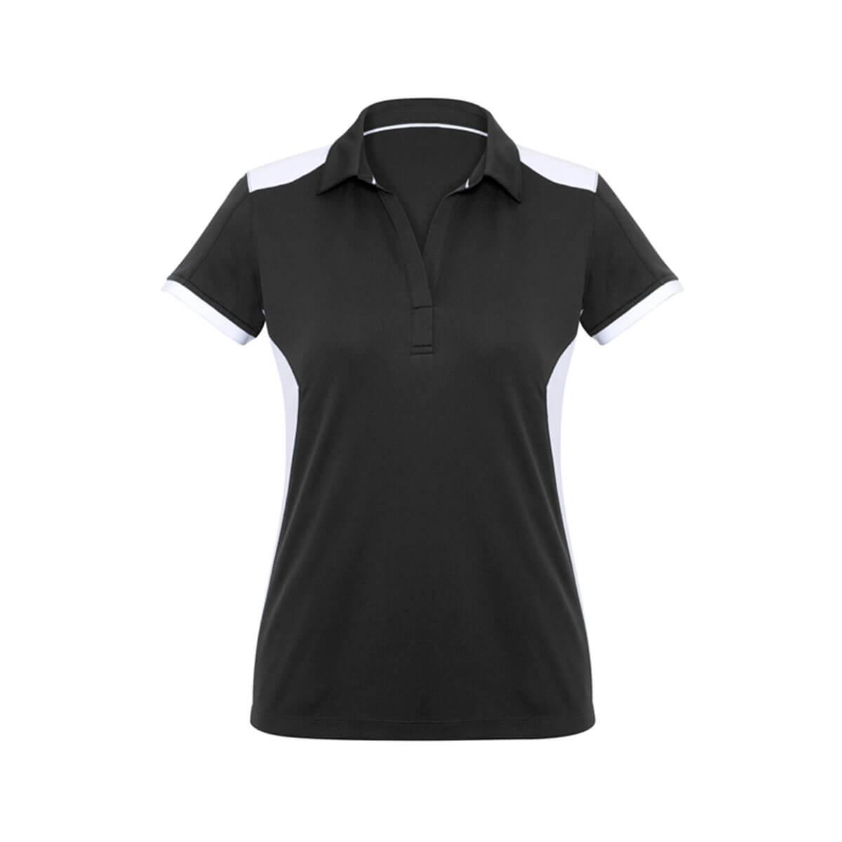 Ladies Rival Polo-Black / White