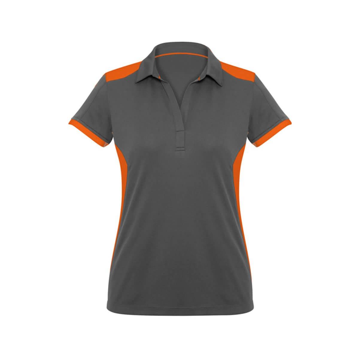 Ladies Rival Polo-Grey / Orange