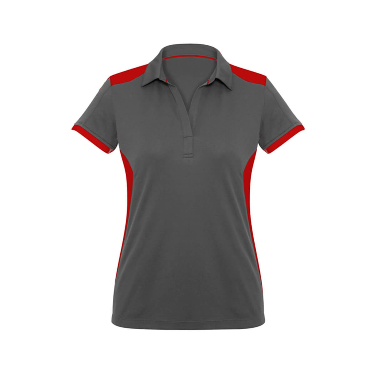 Ladies Rival Polo-Grey / Red