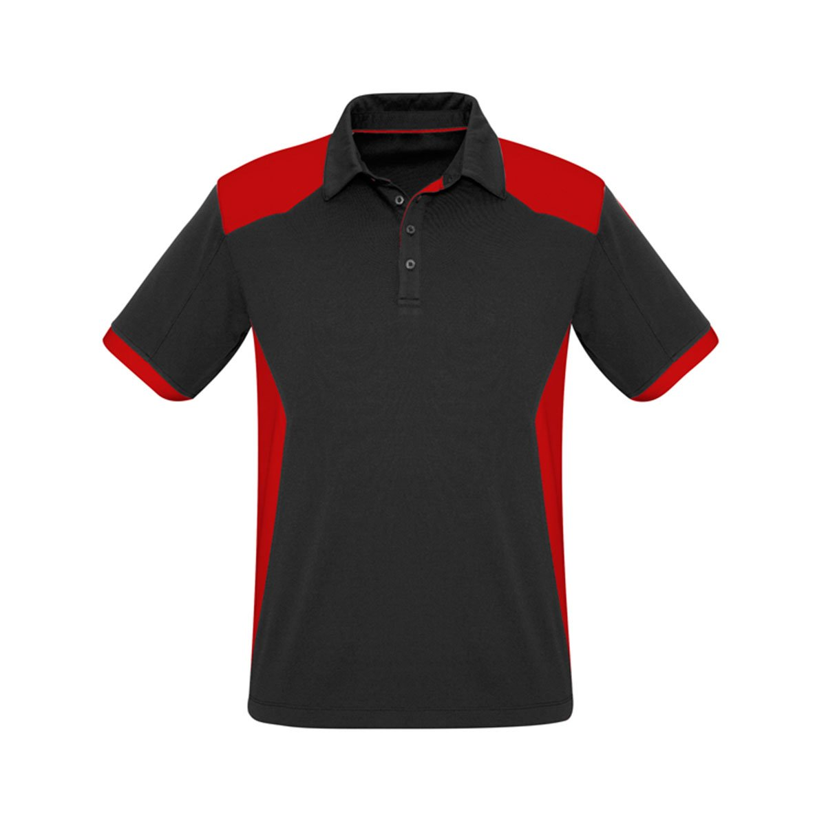 Mens Rival Polo-Black / Red