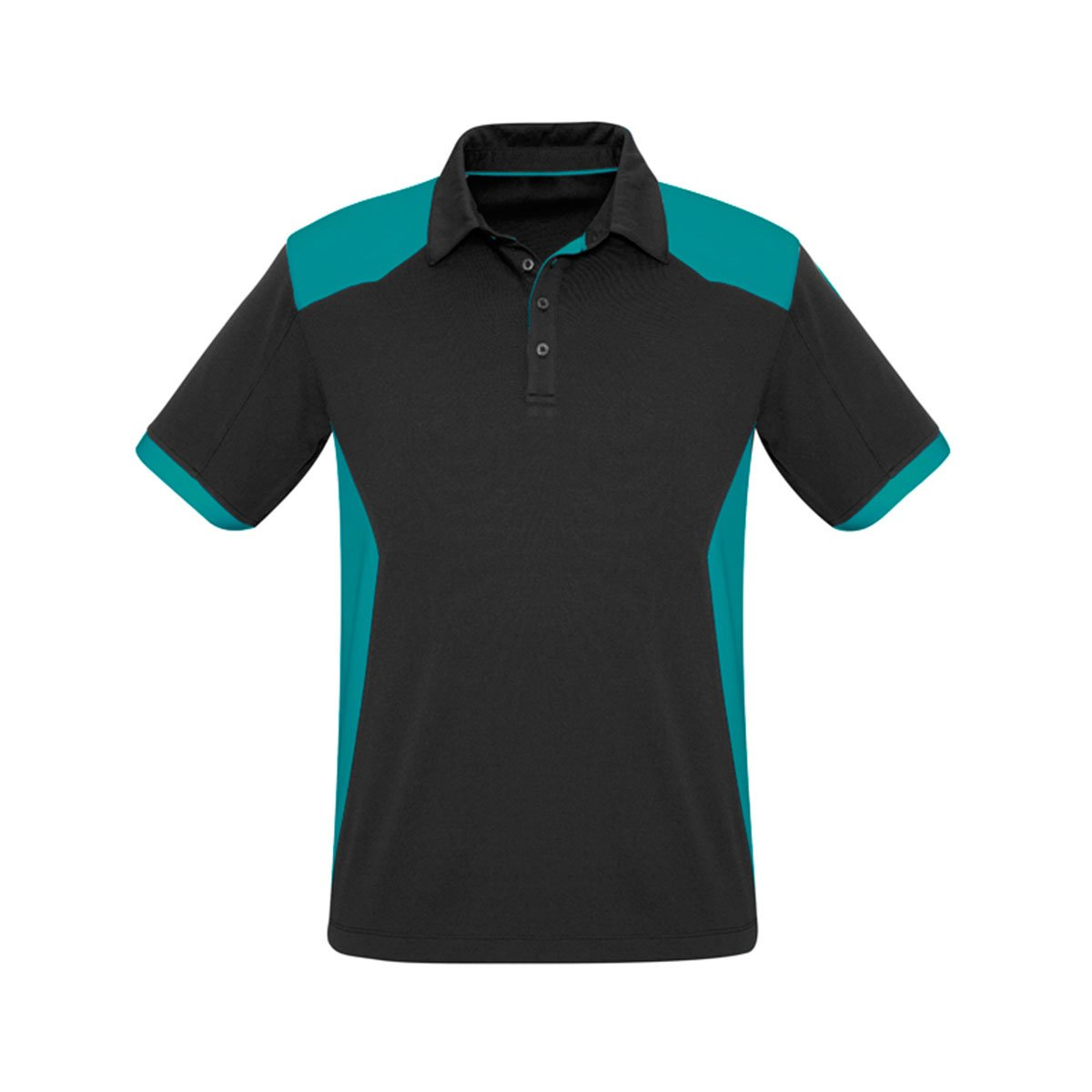 Mens Rival Polo-Black / Teal