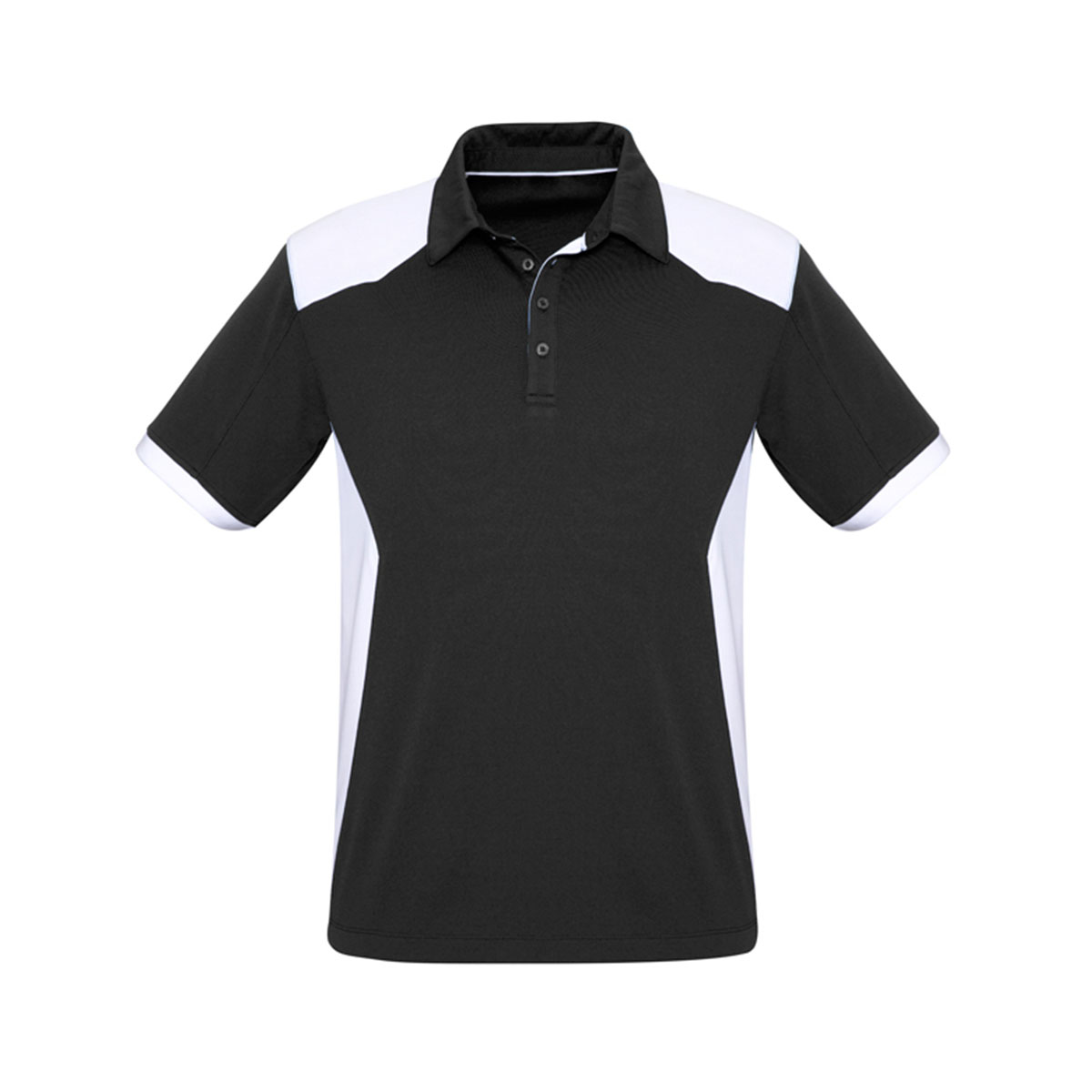 Mens Rival Polo-Black / White