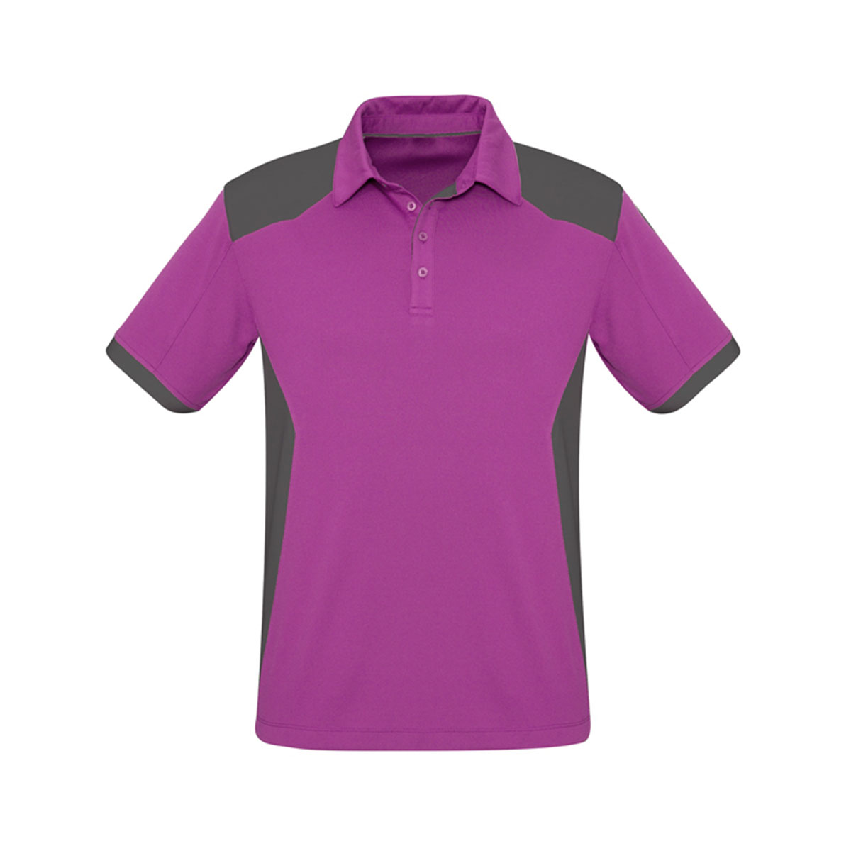 Mens Rival Polo-Cerise / Grey