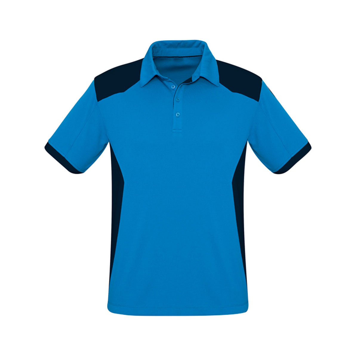 Mens Rival Polo-Cyan / Navy