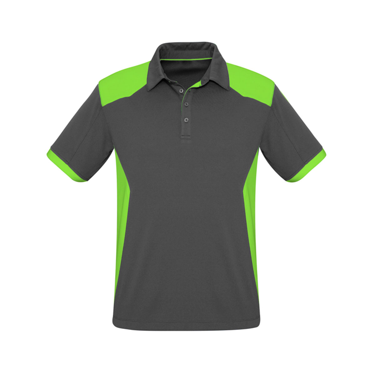 Mens Rival Polo-Grey / Fluoro Lime