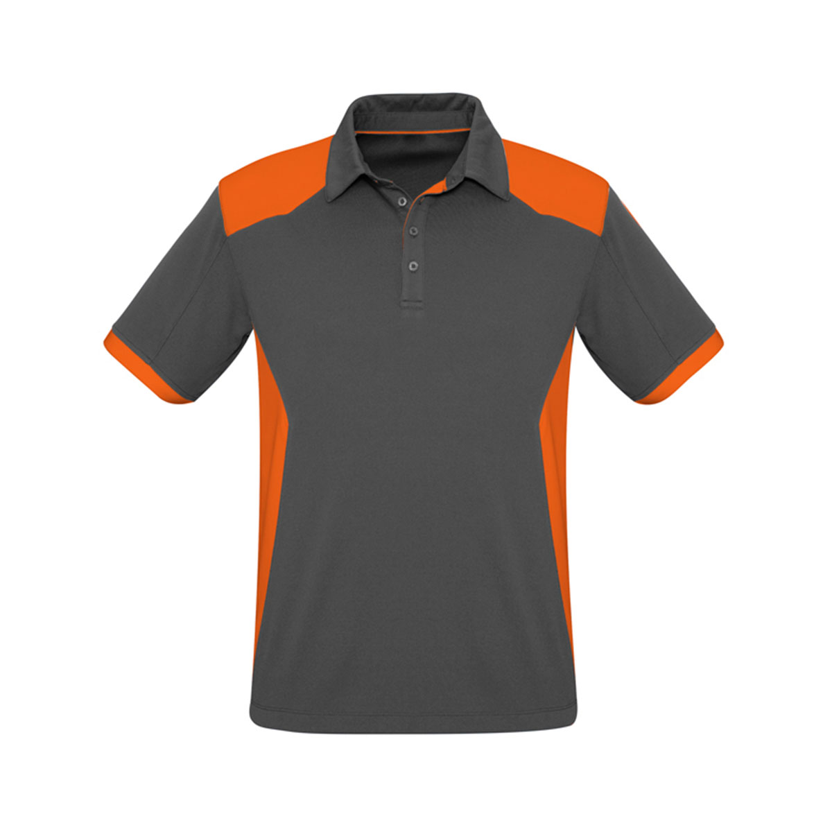 Mens Rival Polo-Grey / Orange
