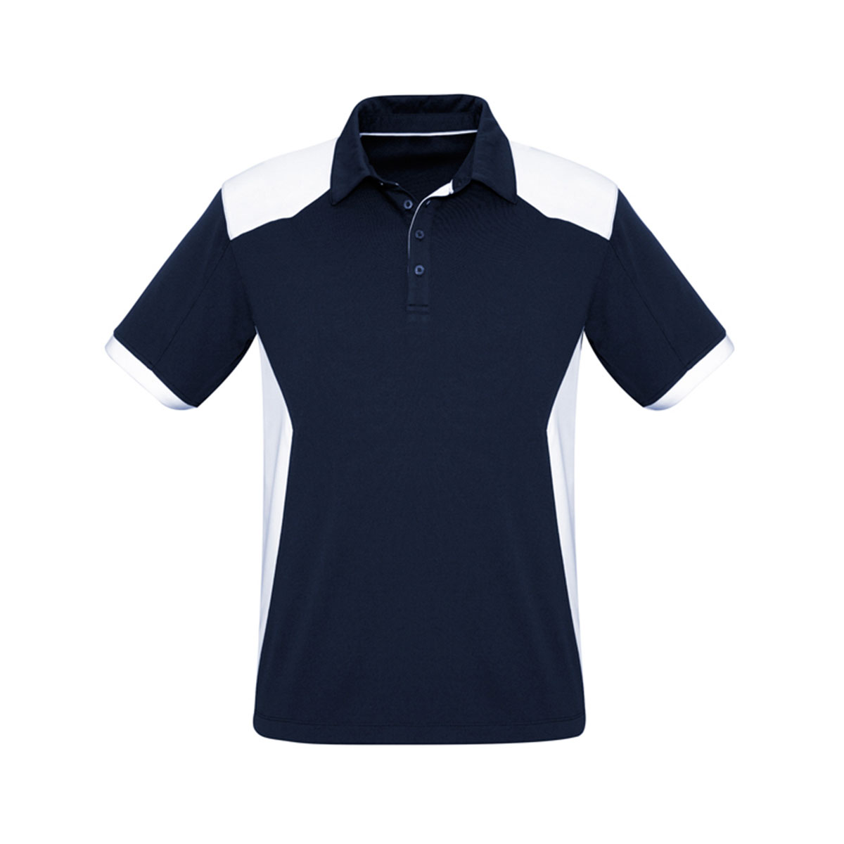 Mens Rival Polo-Navy / White