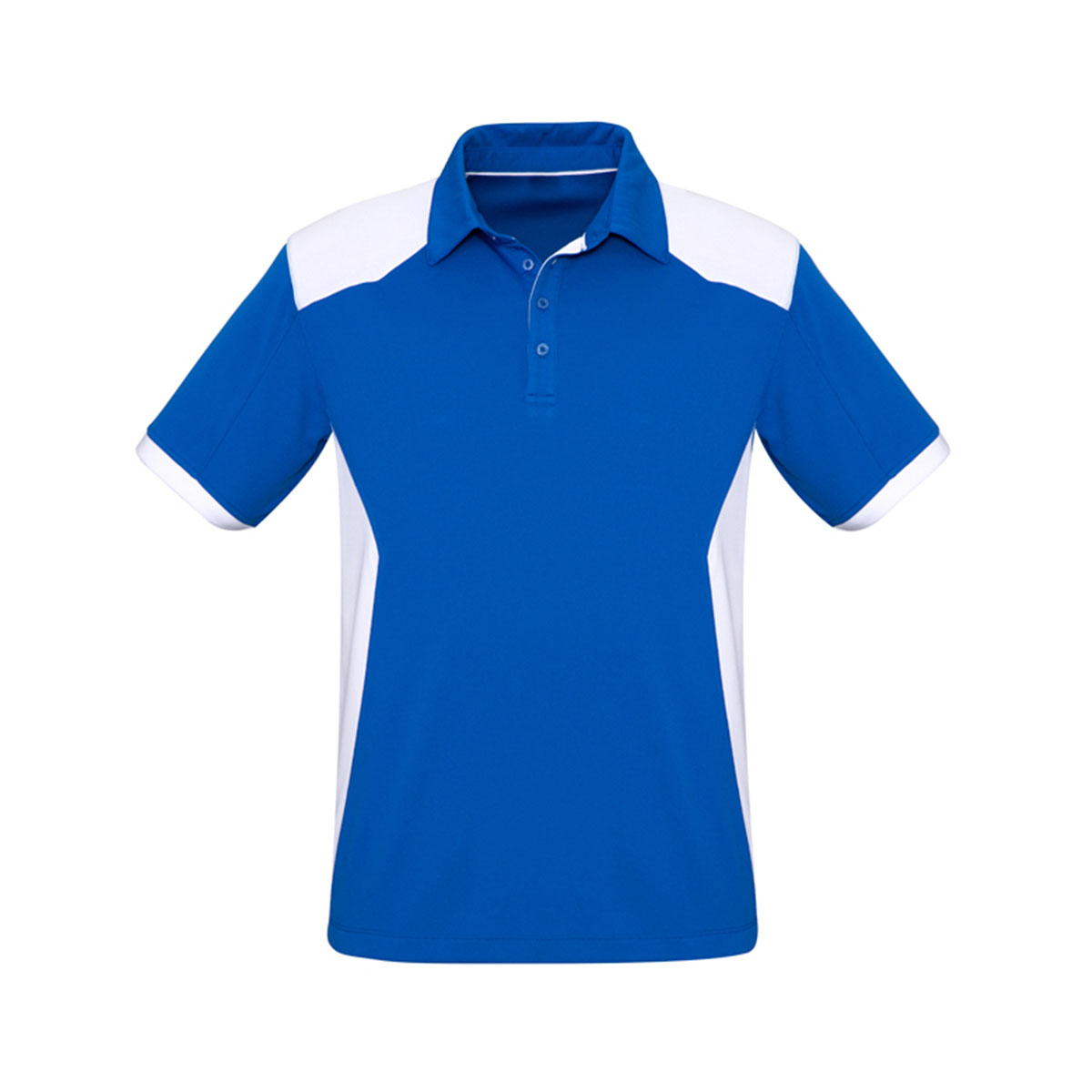 Mens Rival Polo-Royal / White