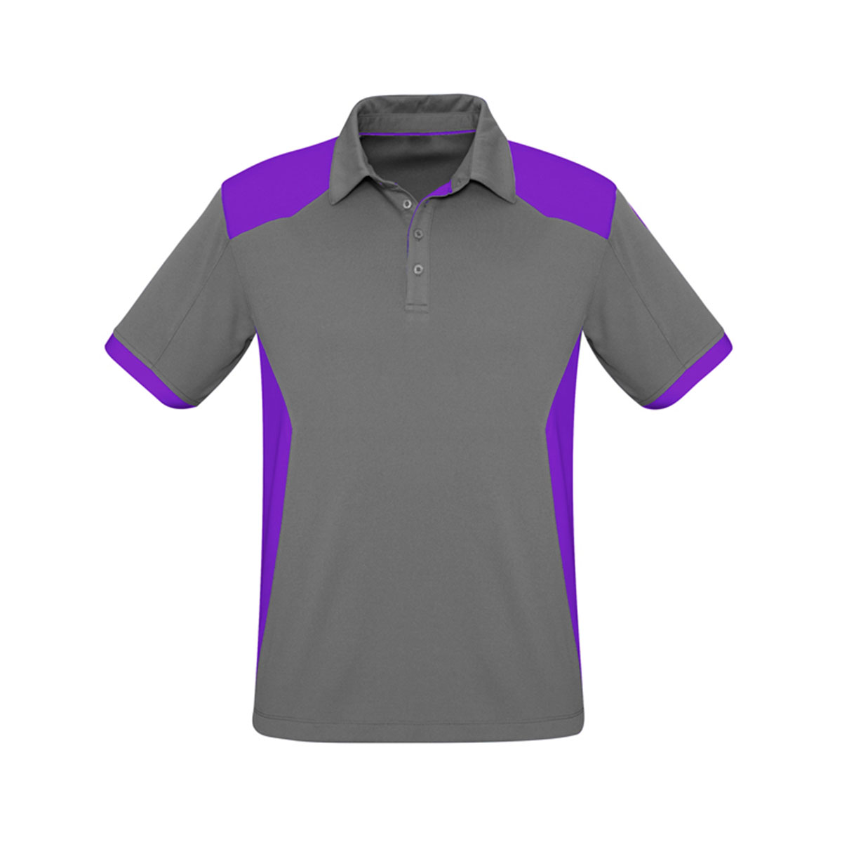 Mens Rival Polo-Silver / Purple