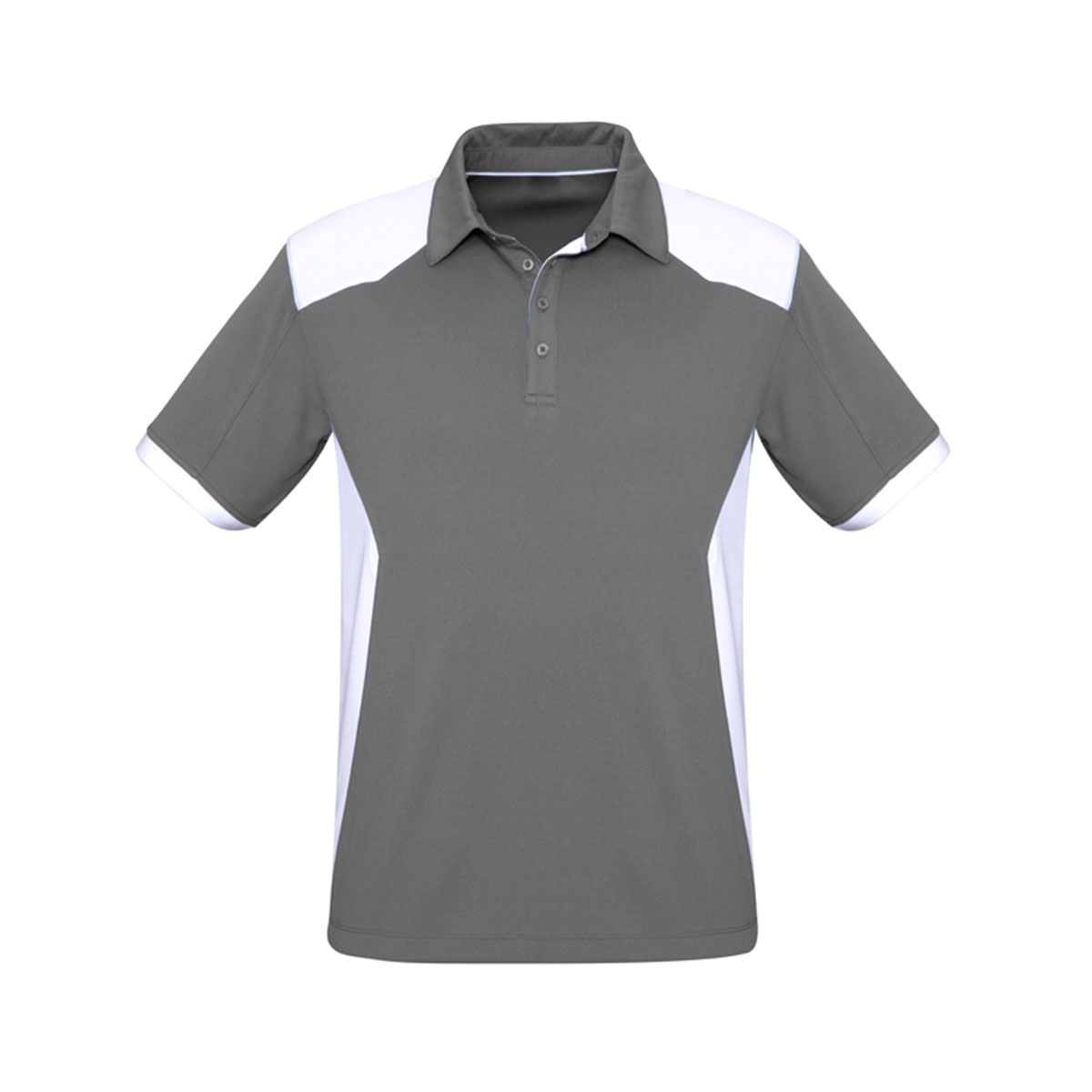 Mens Rival Polo-Silver / White