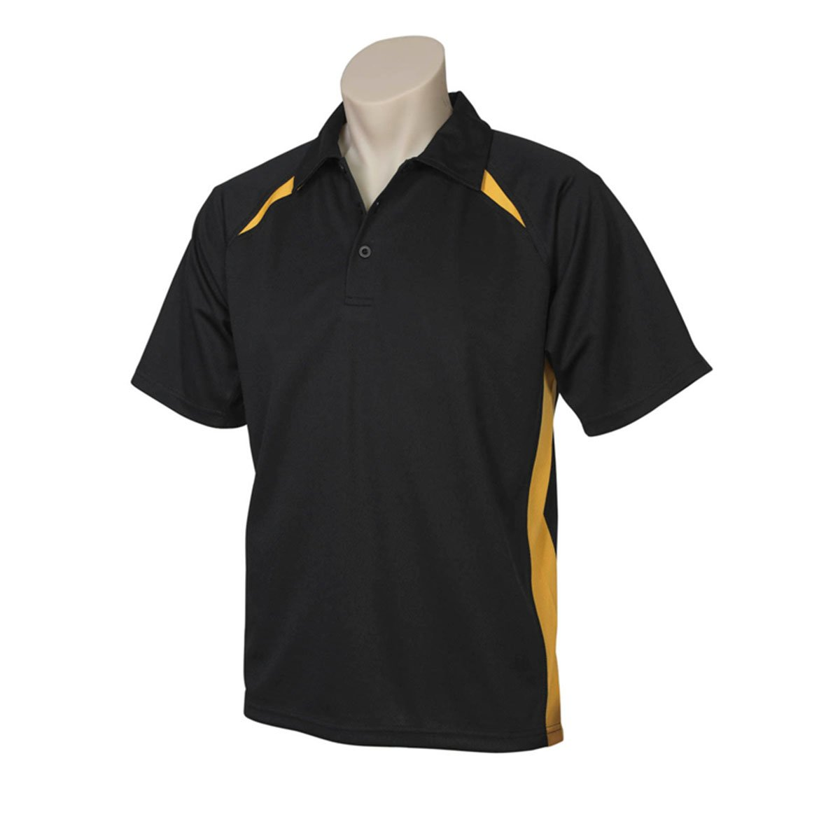 Mens Splice Polo-Fluoro Yellow Lime / Black