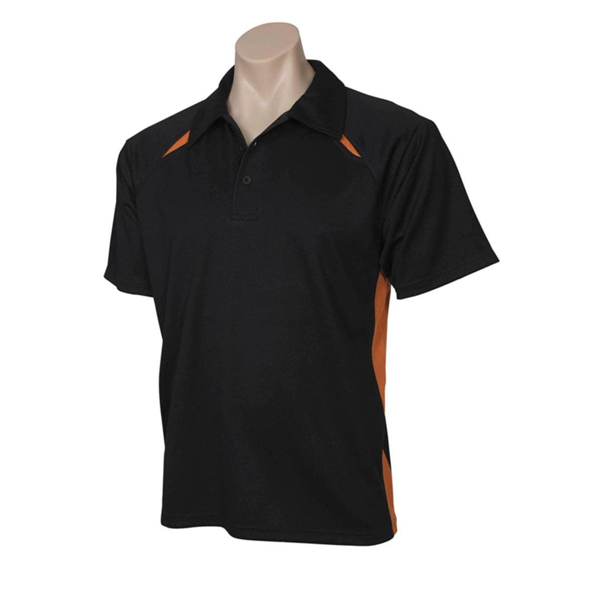 Mens Splice Polo-Black / Orange